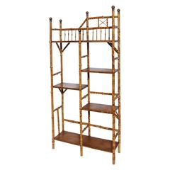Fine English Bamboo Etagere, Book Stand