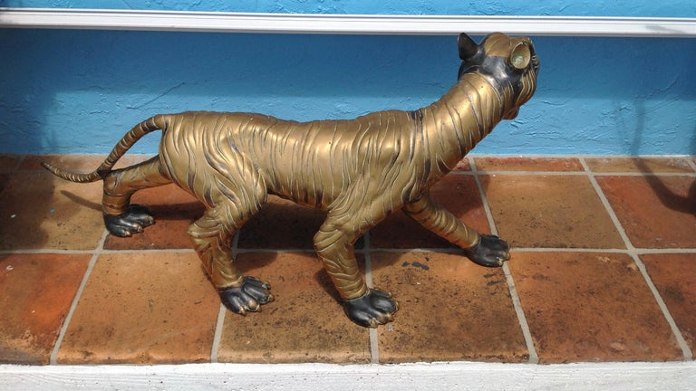 Enormous Midcentury Figure of a Tiger For Sale 1