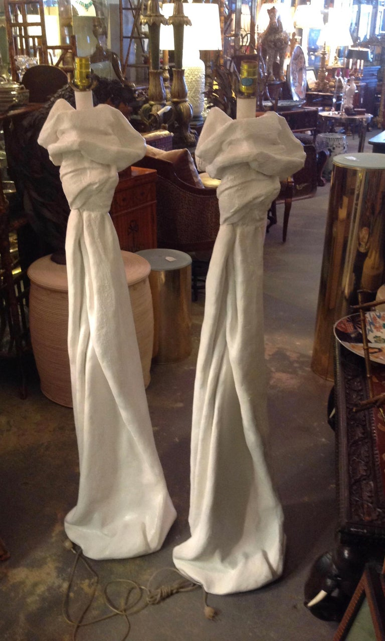 Pair of John Dickinson Style Floor Lamps In Good Condition For Sale In West Palm Beach, FL