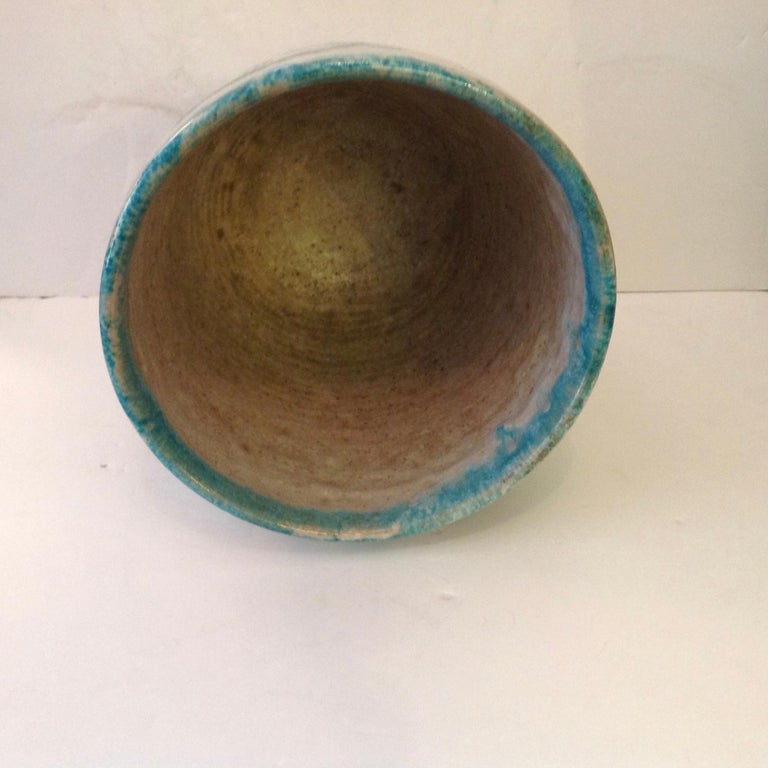 20th Century Guido Gambone Art Pottery Vase For Sale
