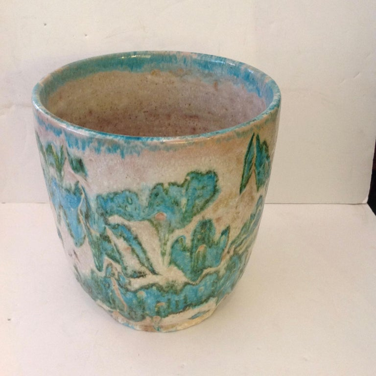 Italian Guido Gambone Art Pottery Vase For Sale