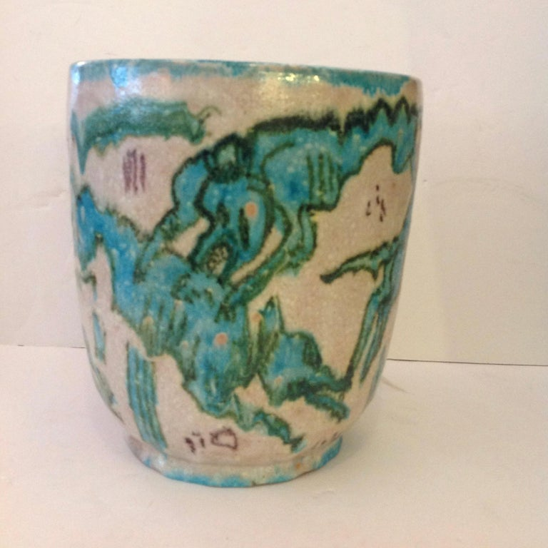 Mid-Century Modern Guido Gambone Art Pottery Vase For Sale