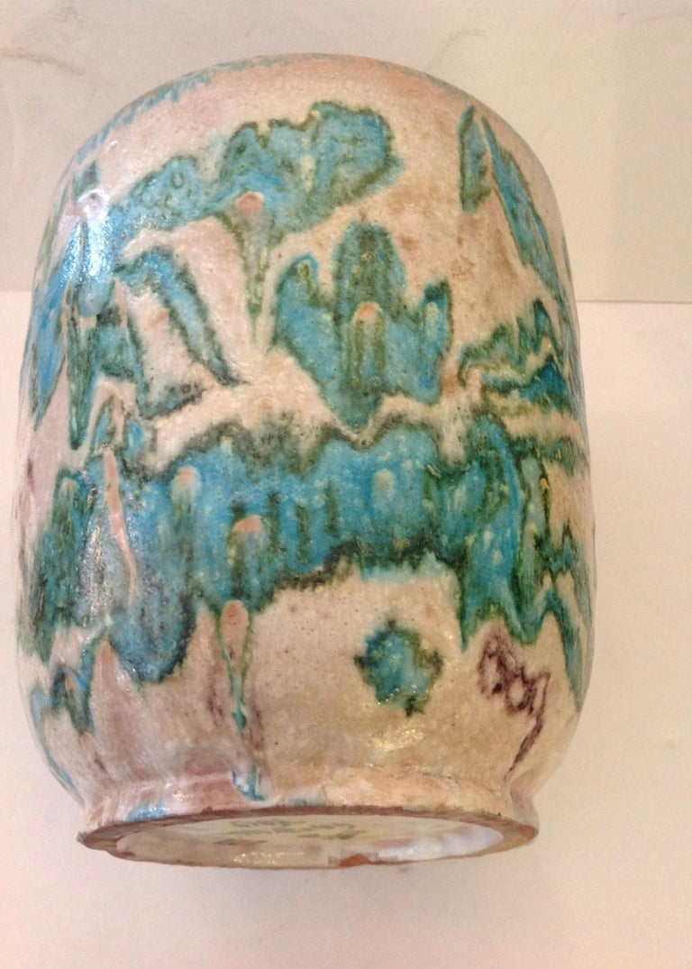 Hand-Crafted Guido Gambone Art Pottery Vase For Sale
