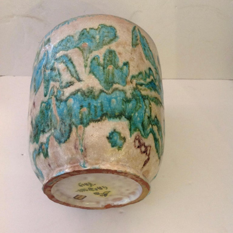 Guido Gambone Art Pottery Vase In Good Condition For Sale In West Palm Beach, FL