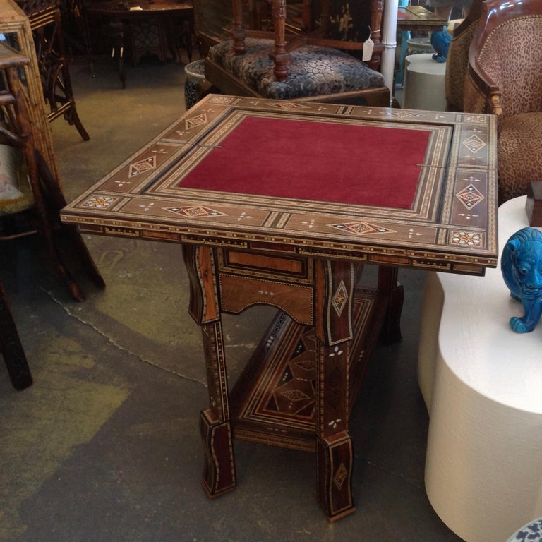 Moroccan Folding Game Table For Sale 1