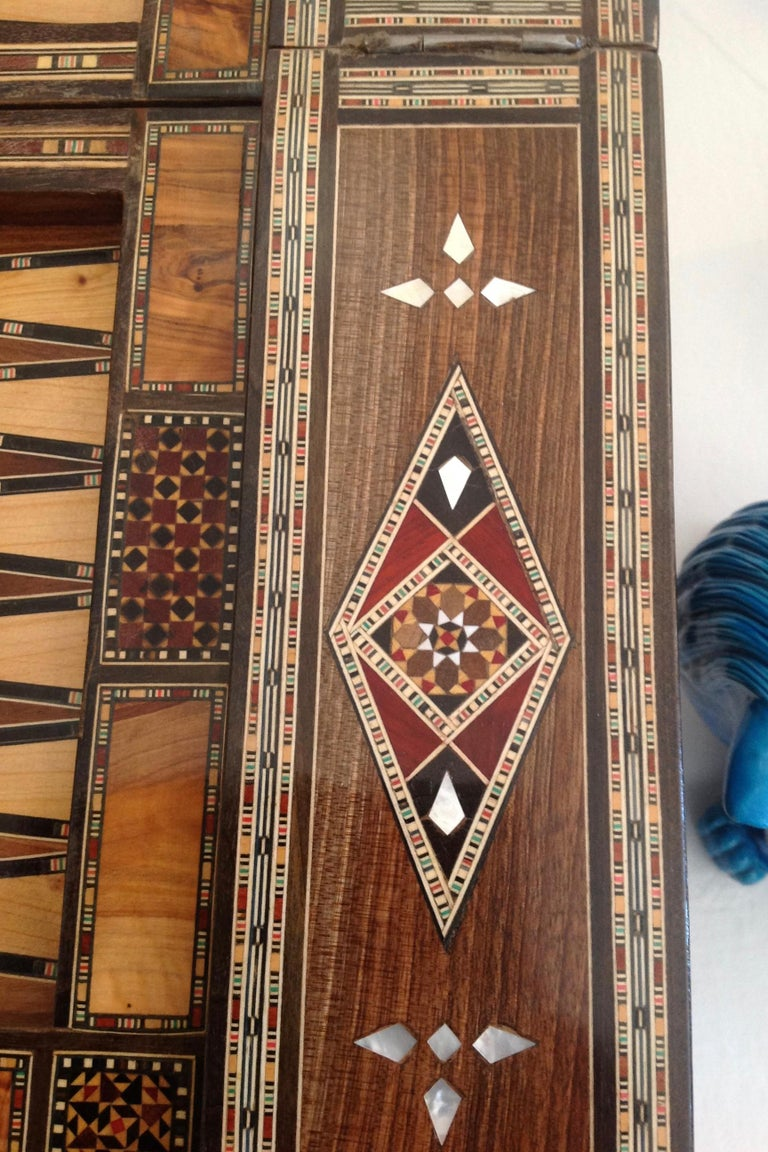 Moroccan Folding Game Table For Sale 8