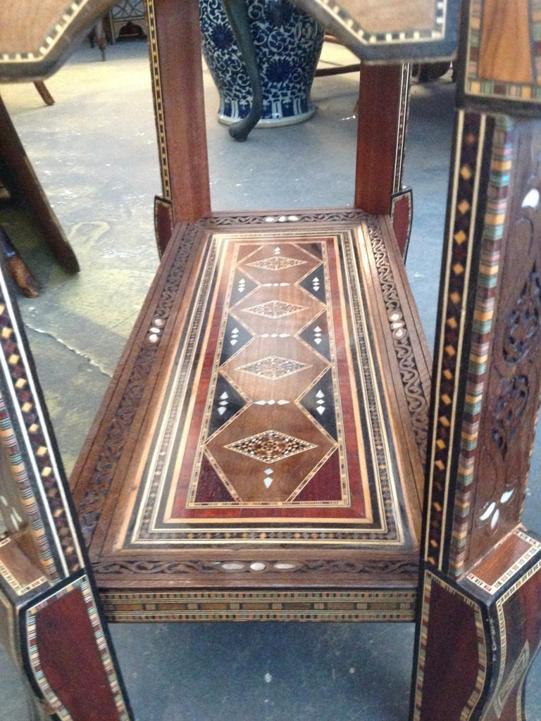 Moroccan Folding Game Table For Sale 10