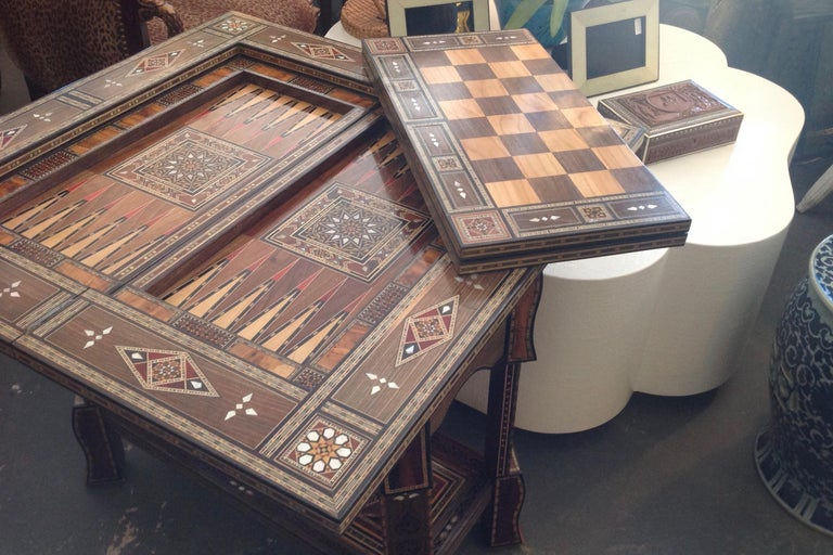 Moroccan Folding Game Table For Sale 4