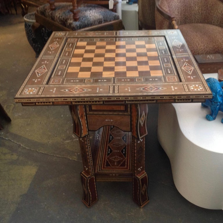 Moroccan Folding Game Table For Sale 2