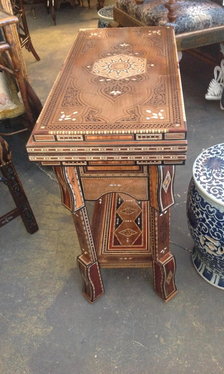 Late 20th Century Moroccan Folding Game Table For Sale