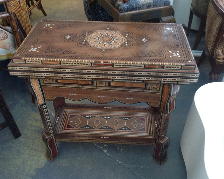 Inlay Moroccan Folding Game Table For Sale