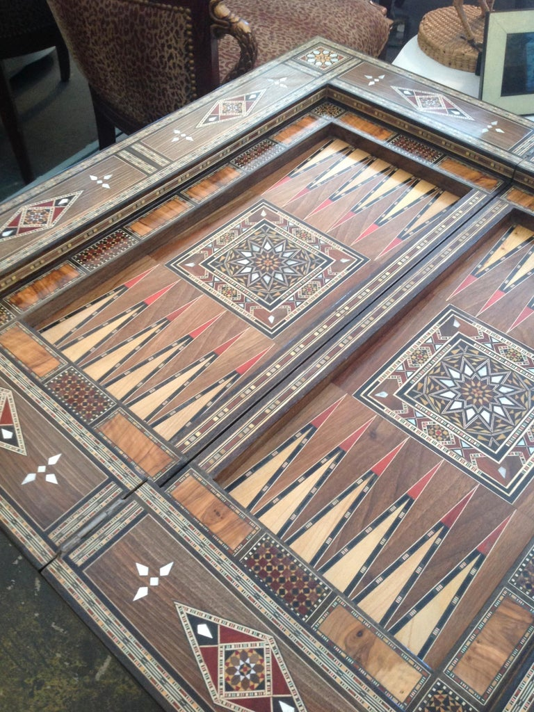 Moroccan Folding Game Table For Sale 12