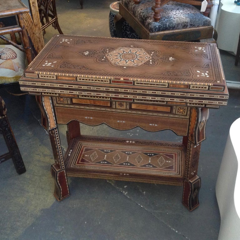Moorish Moroccan Folding Game Table For Sale