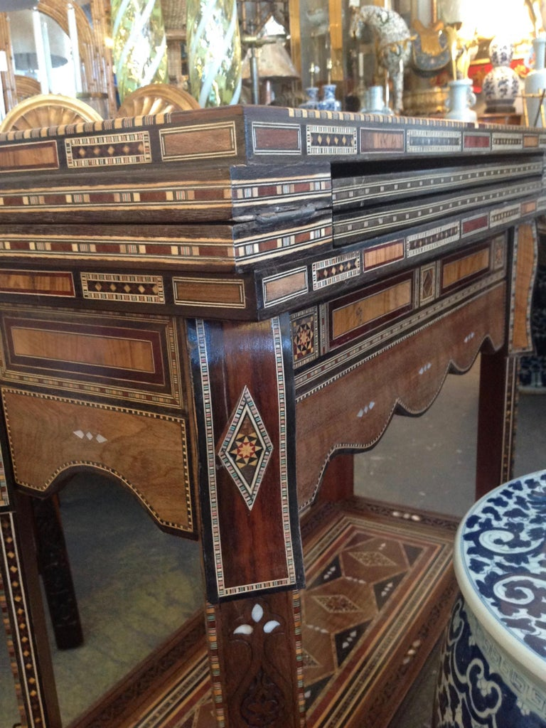 Moroccan Folding Game Table For Sale 13