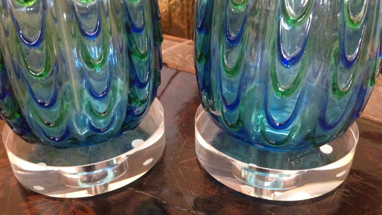 20th Century Pair of Murano Lamps For Sale
