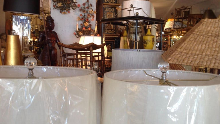 Pair of Murano Lamps For Sale 5