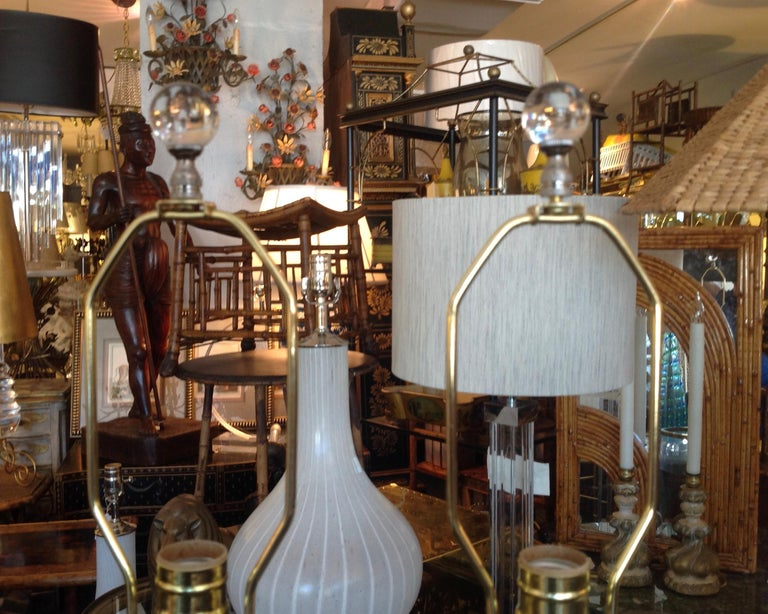 Pair of Murano Lamps For Sale 6