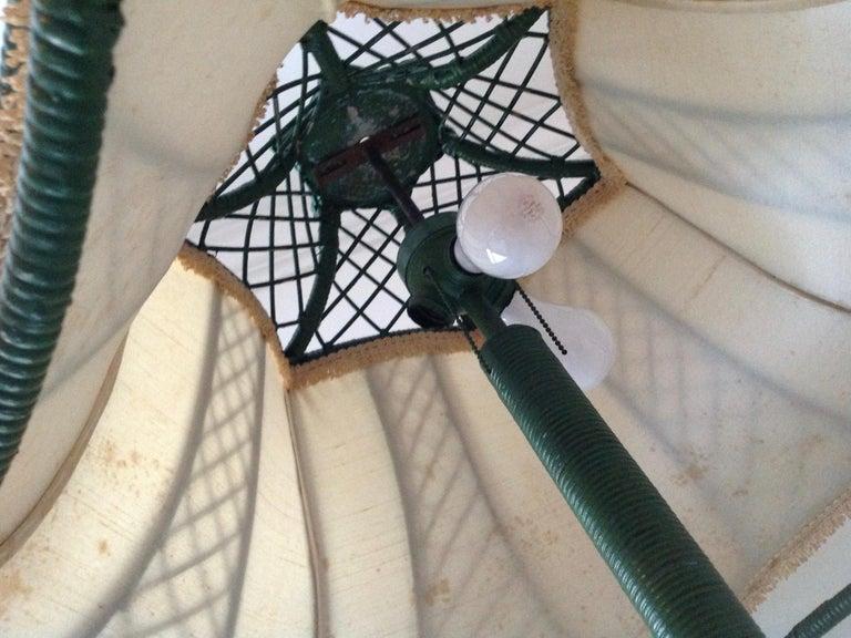 Brighton Inspired Wicker Floor Lamp For Sale 4