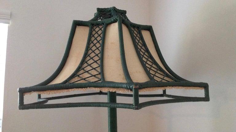 Brighton Inspired Wicker Floor Lamp For Sale 1