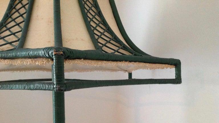 Brighton Inspired Wicker Floor Lamp For Sale 2