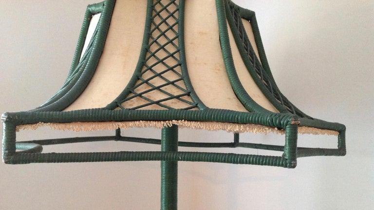Brighton Inspired Wicker Floor Lamp For Sale 3