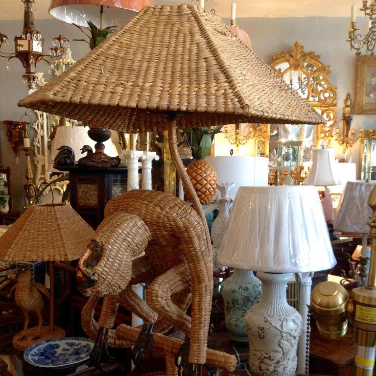 Mario Lopez Torres Wicker Monkey Floor Lamp For Sale 8