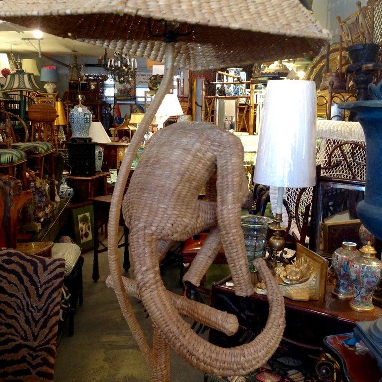 Mario Lopez Torres Wicker Monkey Floor Lamp For Sale 9