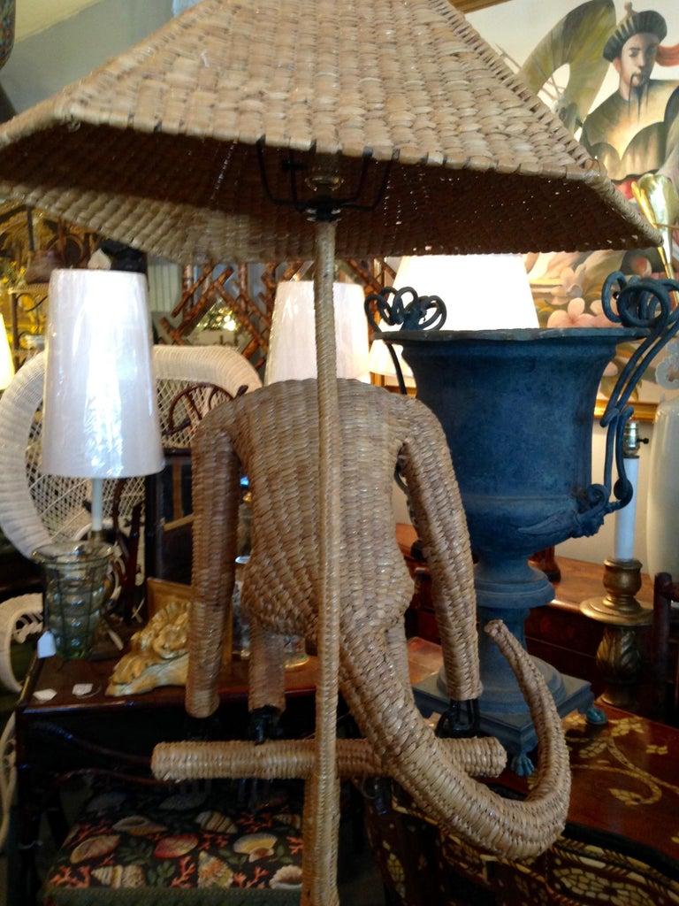 Mario Lopez Torres Wicker Monkey Floor Lamp For Sale 13