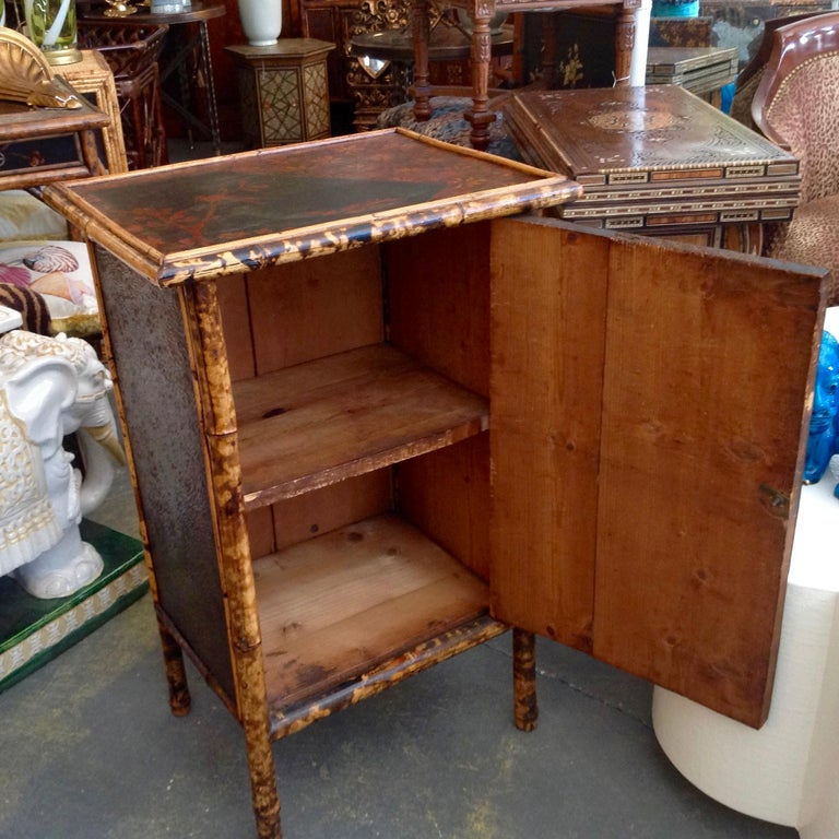 Edwardian Bamboo Side Cabinet For Sale 2