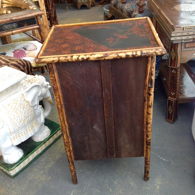 Edwardian Bamboo Side Cabinet For Sale 1