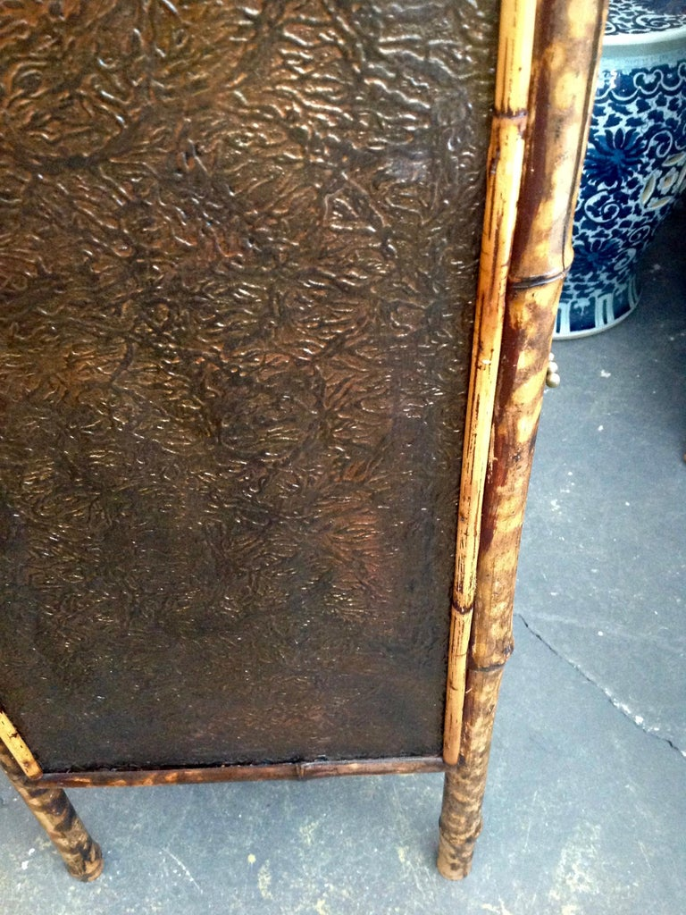 Edwardian Bamboo Side Cabinet For Sale 8