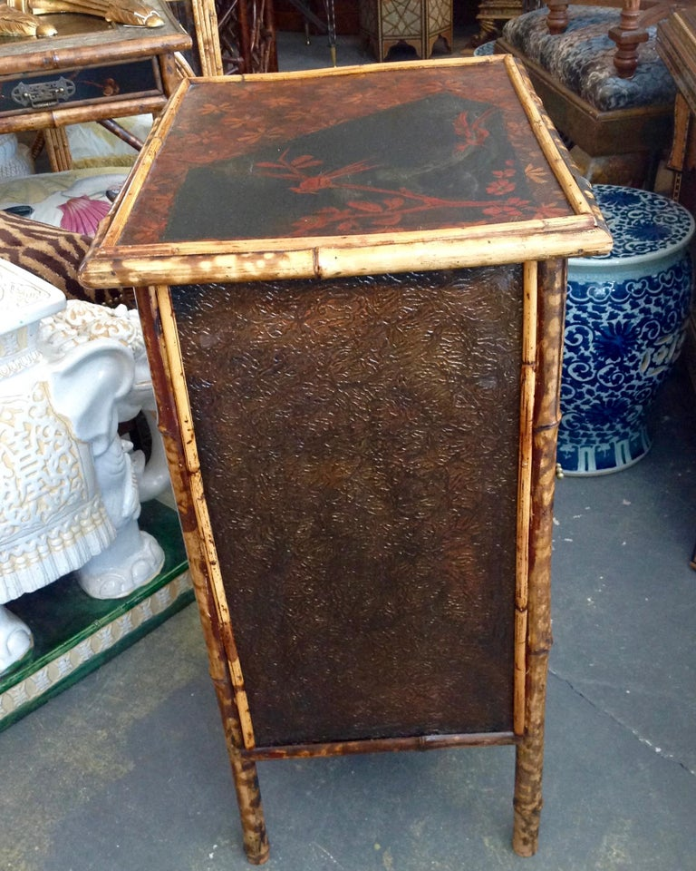 19th Century Edwardian Bamboo Side Cabinet For Sale