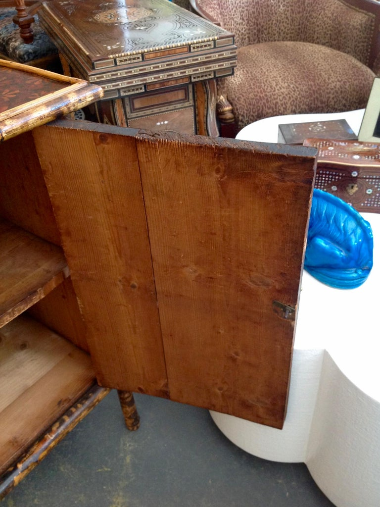 Edwardian Bamboo Side Cabinet For Sale 3