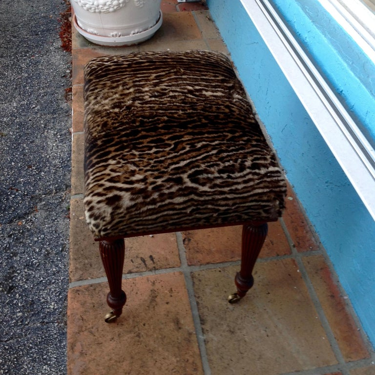 19th Century English Lynx Covered Bench For Sale 2