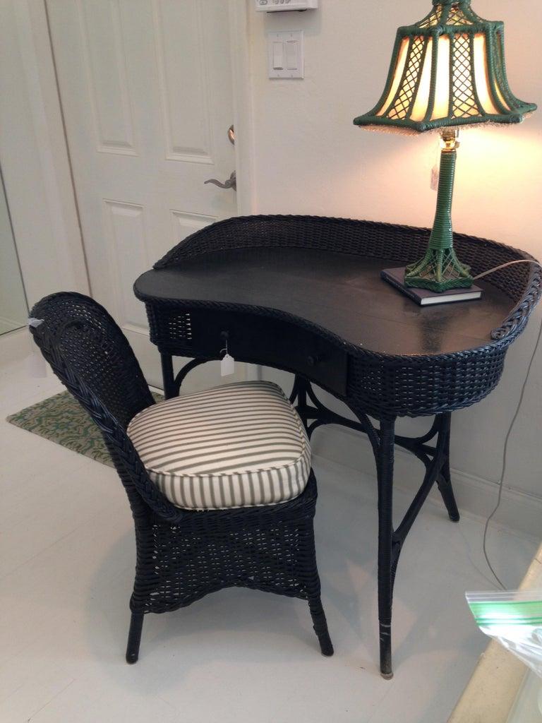 Brighton Inspired Wicker Floor Lamp For Sale 6