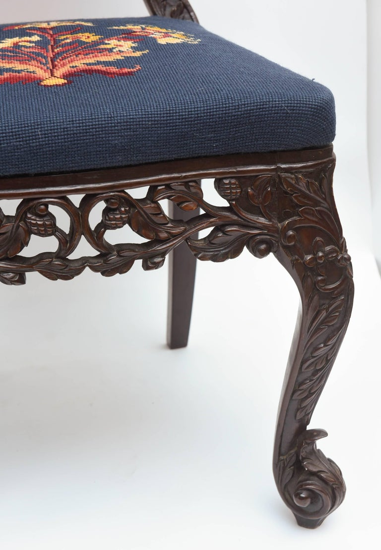 Fabric Superb Pair of  19th Century Anglo-Indian Side Chairs For Sale