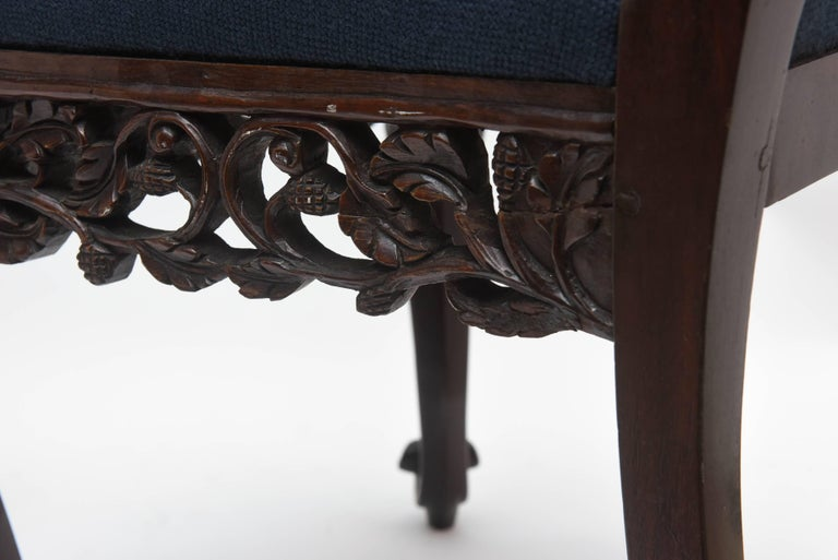 Superb Pair of  19th Century Anglo-Indian Side Chairs For Sale 5