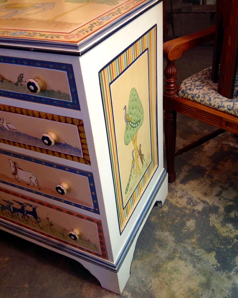 Mid-20th Century Hand Painted Children's Room Dresser For Sale