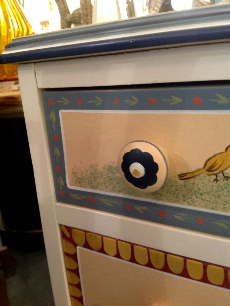 Hand Painted Children's Room Dresser For Sale 7