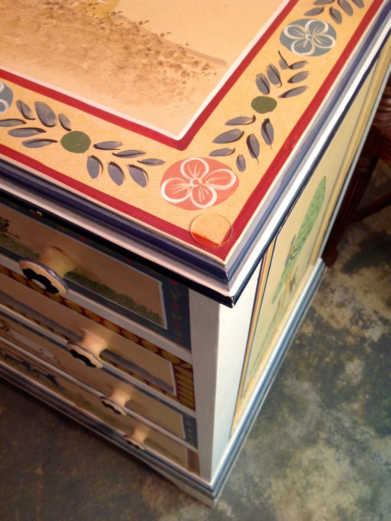 Hand Painted Children's Room Dresser For Sale 11