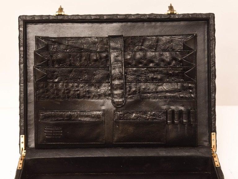 Vintage Caiman Crocodile Briefcase At 1stdibs