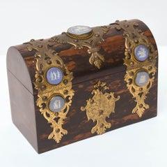 19th Century  Coromandel Document Box with Jasperware Medallions
