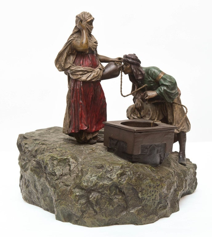 Austrian Bergman Orientalist Bronze For Sale