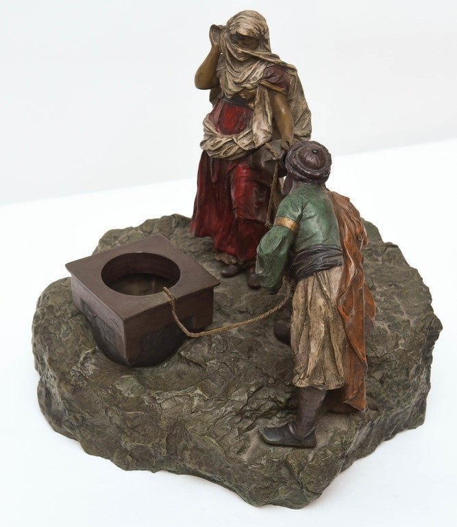 20th Century Bergman Orientalist Bronze For Sale