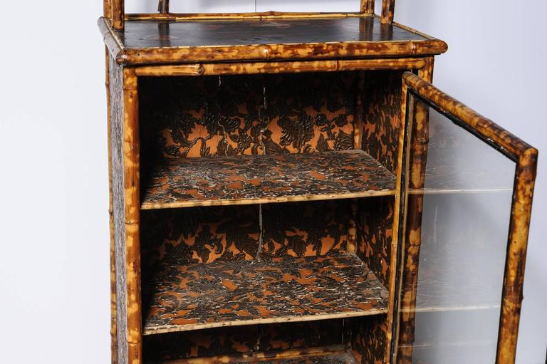 Superb English Bamboo Side Cabinet / Bookcase 5