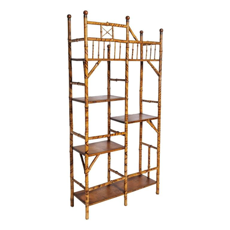 fine english bamboo etagere book stand at 1stdibs. Black Bedroom Furniture Sets. Home Design Ideas
