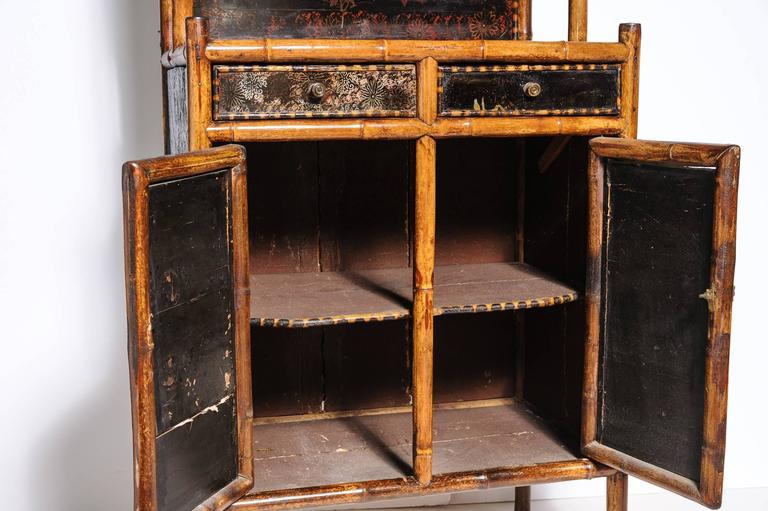 Superb English Bamboo Side Cabinet For Sale 4