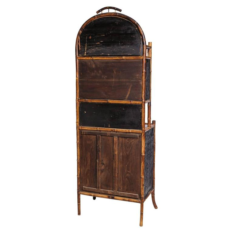 Superb English Bamboo Side Cabinet For Sale 5