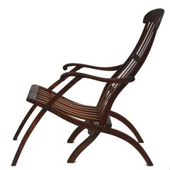 Early 20th Century Teak Folding Lounge Chair