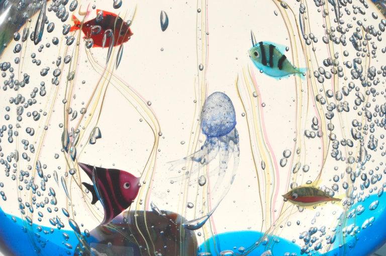 Hand-Crafted Aquarium by Elio Raffaeli for Ars Murano For Sale
